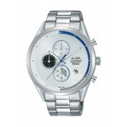 Alba 43mm Chronograph Gent's Metal Watch (AM3569X1) - Silver