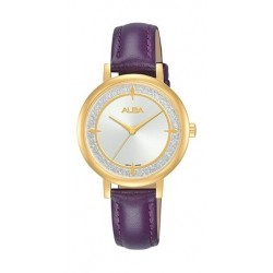 Alba Quartz 30mm Analog  Ladies Leather Watch - AH8536X1