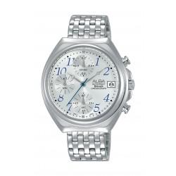 ساعة ألبا بعرض كرونوغراف للنساء - ٣٦ ملم - فضي (AM3493X1)