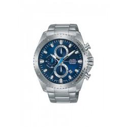 ساعة ألبا بعرض كرونوغراف وحزام معدني للرجال - ٤٥ ملم - فضي (AM3639X1)