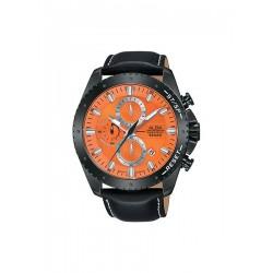 ساعة ألبا بعرض كرونوغراف وحزام من الجلد للرجال - ٤٥ ملم - أسود (AM3643X1)