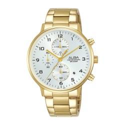 ساعة ألبا كاجوال بحجم 40 ملم للرجال بعرض كرونوغراف وحزام معدني (AM3682X1)