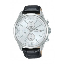 Alba 44mm Gent's Chronograph Leather Casual Watch - (AM3703X1)