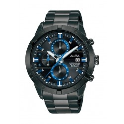 Alba 44mm Gent's Chronograph Sports Metal Watch - (AM3713X1)