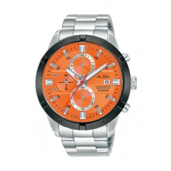 Alba 44mm Gent's Chronograph Sports Metal Watch - (AM3719X1)