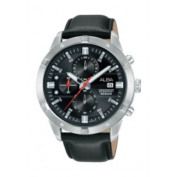 Alba 42mm Gent's Analog Leather Sports Watch - (AM3723X1)