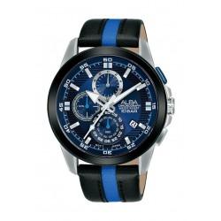 ساعة ألبا العصرية للرجال مقاس 43 ملم بعرض تناظري وحزام جلد (AM3731X1)