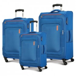 American Tourister Duncan Spinner Soft 3 Pieces Set Luggage Blue buy in xcite Kuwait