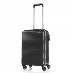 American tourister travel luggage bag black hard cheap wheels buy in xcite kuwait