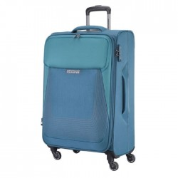 American Tourister Southside Spinner Soft 55cm Luggage blue xcite buy in kuwait