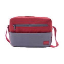 American Tourister Brixton Shoulder Bag (95SX80001) - Red/Grey -Front
