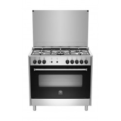 طباخ غاز ٥ شعلات ٩٠ × ٦٠ سم من لاجيرمانيا - (AMS95C31DX) - ستانلس ستيل