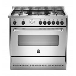 طباخ الغاز القائم من لاجرمانيا – ٩٠ x ٦٠ سم – ٥ شعلات (AMS95C81AX)