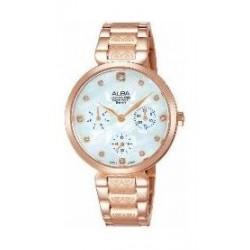 ساعة ألبا العصرية للنساء بعرض تناظري وسوار معدني (AP6530X1)