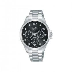 ساعة ألبا 36 ملم أنالوج للسيدات (AP6635X1) - فضي