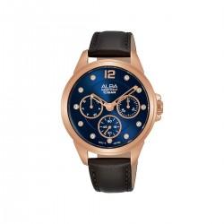 ساعة ألبا انالوج جلدية للسيدات 36 مم (AP6638X1) -  بني