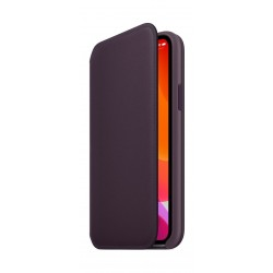 Apple iPhone 11 Pro Max Leather Folio Case - Aubergine
