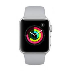 ساعة أبل الجيل الثالث مع هيكل رياضي من الألومنيوم الفضي وحزام رياضي باللون الضبابي - ٣٨ ملم MQKU2LL/A