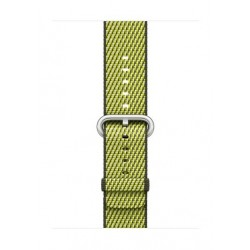 Apple Woven Nylon Strap For 38mm Watch Case - Dark Olive Check