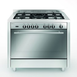 Glem Gas 100 x 60 cm 5 Burner Floor Standing Gas Cooker (MQ1638RIOIAM) - Front View