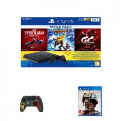 Sony PlayStation 4 500GB Mega Pack with Controller and 4 Games Bundle in Kuwait   Buy Online – Xcite