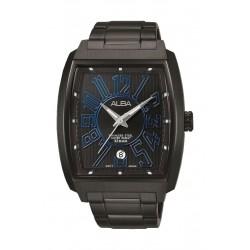 ساعة ألبا الرياضية للرجال بعرض تناظري وسوار معدني (AS9C53X1)