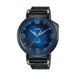Alba Quartz 43mm Analog Gent's Leather Watch - AS9F83X1