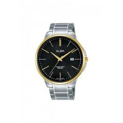 ساعة ألبا بعرض تناظري وحزام معدني للرجال - ٤٢,٥ ملم - فضي (AS9G32X1)