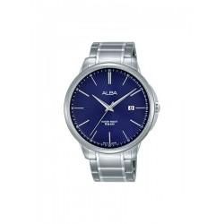 ساعة ألبا بعرض تناظري وحزام معدني للرجال - ٤٢,٥ ملم - فضي (AS9G33X1)