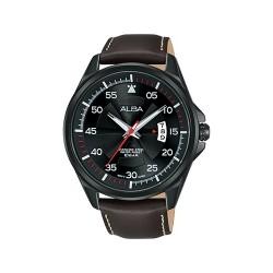 Alba Quartz 44mm Analog Gent's Leather Watch - AS9G99X1