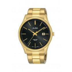 ساعة ألبا الرجالية بعرض تناظري وحزام معدني - ٤٢ ملم - (AS9H52X1)
