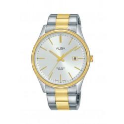 ساعة ألبا الرجالية بعرض تناظري وحزام معدني - ٤٢ ملم - (AS9H54X1)