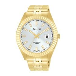 ساعة ألبا كاجوال للرجال بعرض تناظري وبحجم 42 ملم وحزام معدني - (AS9J92X1)