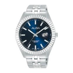 ساعة ألبا كاجوال للرجال بعرض تناظري وبحجم 42 ملم وحزام معدني - (AS9J97X1)