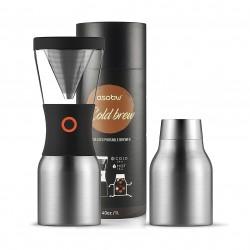 Asobu Coldbrew Portable Cold Brew Coffee Maker - Silver