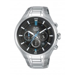 Alba Gents Chronograph 46 mm Sports Watch (AT3C09X1 ) - Silver