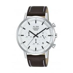 ساعة ألبا كاجوال للرجال بنظام عرض كونوغراف - ٤٢ ملم -  بني (AT3C59X1)