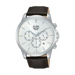 Alba Quartz 43mm Chronograph Gent's Leather Watch - AT3E45X1