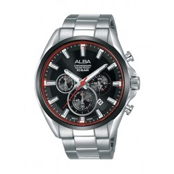Alba 44mm Chronograph Gents Metal Watch (AT3E55X1) - Silver