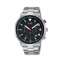 ساعة ألبا للرجال بنظام عرض كرونوغراف وحزام من المعدن - ٤٣ ملم  (AT3F45X1)