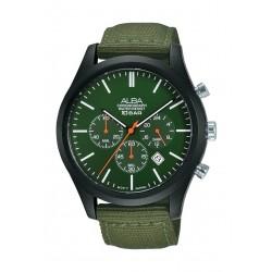 Alba 44mm Gent's Chronograph Nylon Sports Watch - (AT3G45X1)