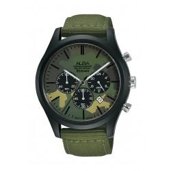 Alba 44mm Gent's Chronograph Nylon Sports Watch - (AT3G51X1)