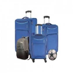 4 حقائب سفر من أمريكان توريستر بورتلاند مع كرة قدم - أزرق