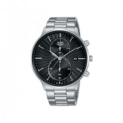 ساعة ألبا رجالية كاجوال من المعدن 43 مم (AW4003X1) - فضي
