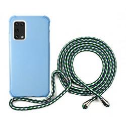 EQ Neck String Samsung Galaxy A02S 5G Case - Blue