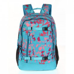 Girls large Backpack Blue/Pink Triangles school bag buy in xcite kuwait