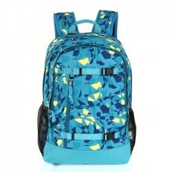 EQ Backpack blue yellow triangle school kids boys buy in xcite Kuwait