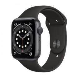 ساعة أبل الجيل السادس جي بي إس الذكية بإطارألمنيوم  وبحجم 40 ملم – رمادي / أسود