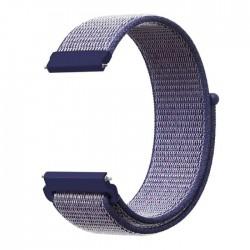 حزام الساعة من النايلون مقاس 20 مم من اي كيو - ازرق