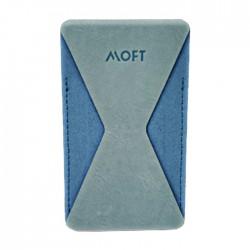 مقبض للهاتف مع محفظة من موفت - أزرق